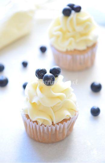 Cupcakes de arándano