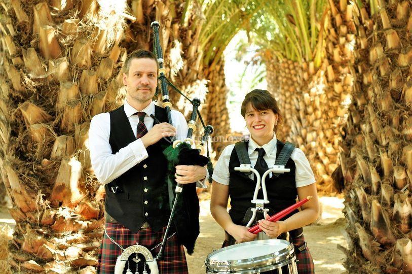 Gaita y percusión escocesa