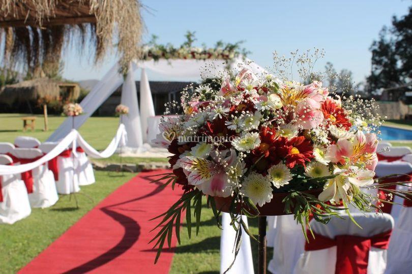 Flores para el matrimonio de Eventos Michelle