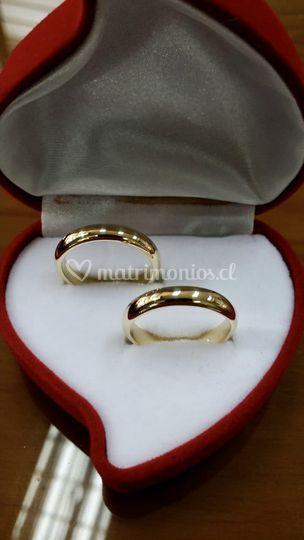 Argollas matrimonio oro 18 k