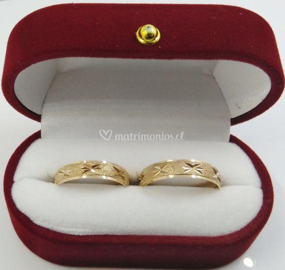 Argollas en oro de 18 K