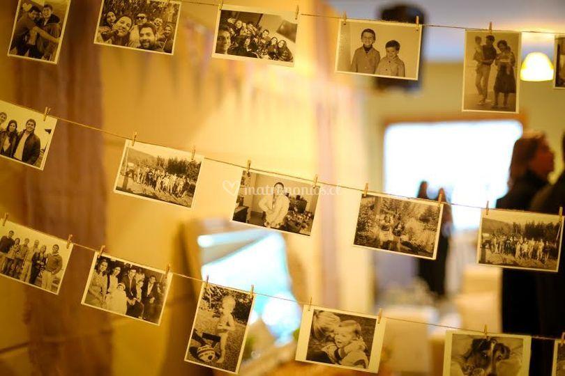 Decoración con las fotos