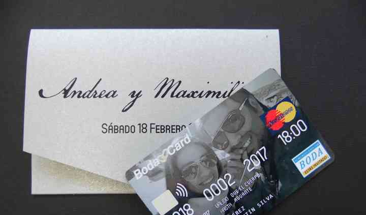 Invitación credit card