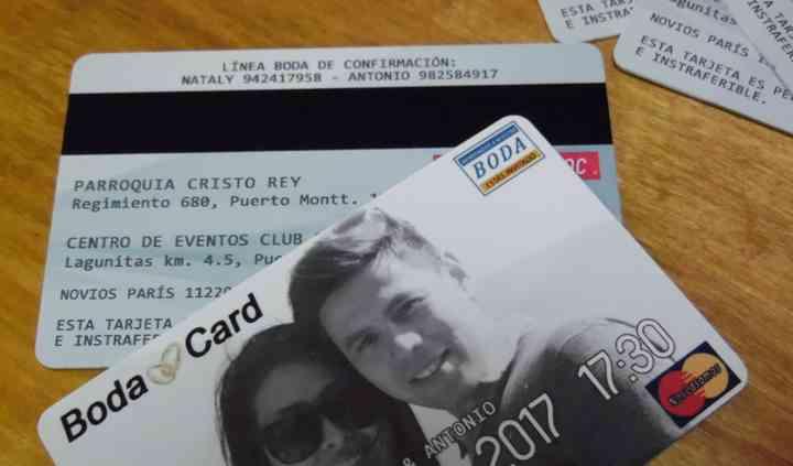 Invitación credit card