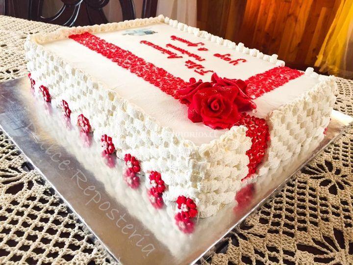 Torta aniversario novios 40pp