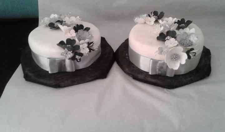 Trilogía torta novios bodas de plata