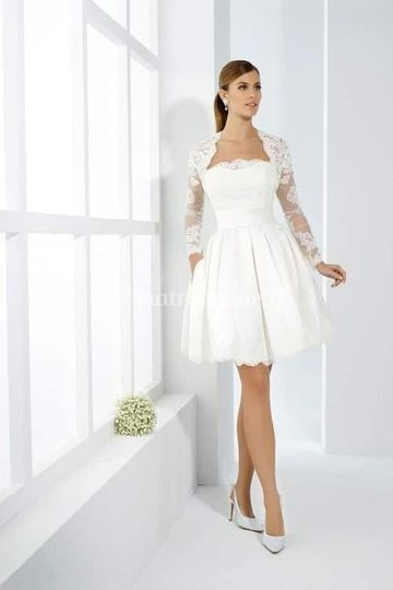Vestido novia civil