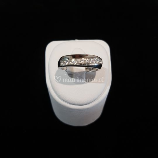 Anillo oro blanco Brillantes