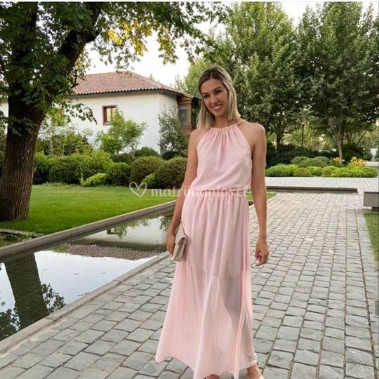 Vestido griego, clienta feliz