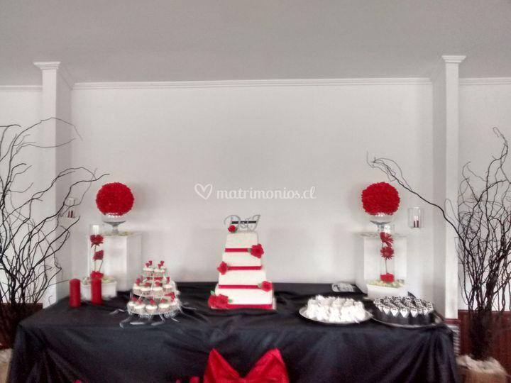 Montaje mesa dulce