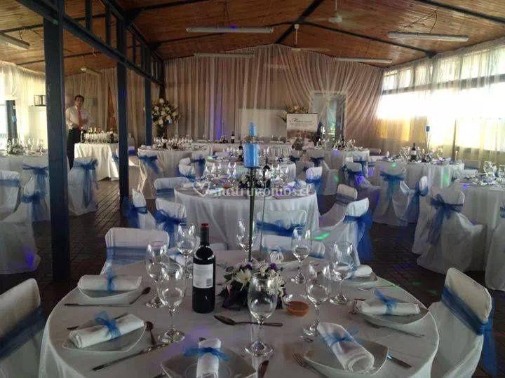 Matrimonio azul y blanco