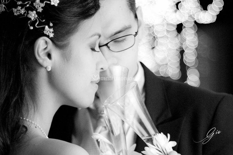 Brindis de recién casados