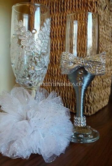 Copas para bodas de plata