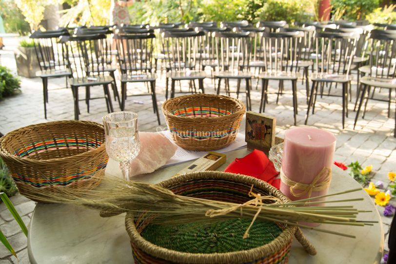 Altar antes de la ceremonia