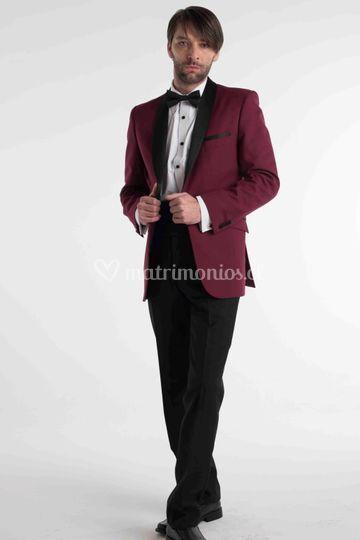 Tuxedo burdeos s/smoking