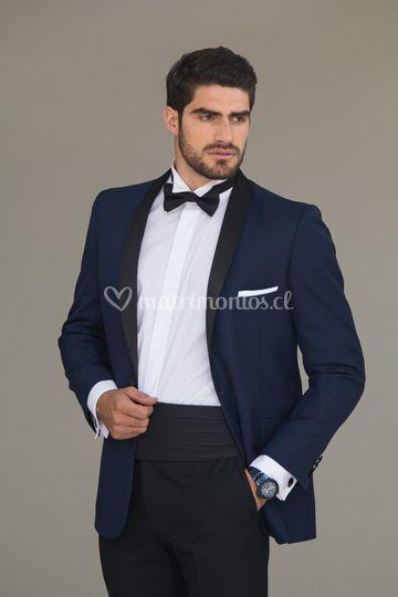 Tuxedo azul humita faja