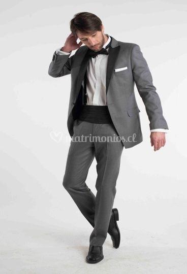 Tuxedo gris solapa smoking