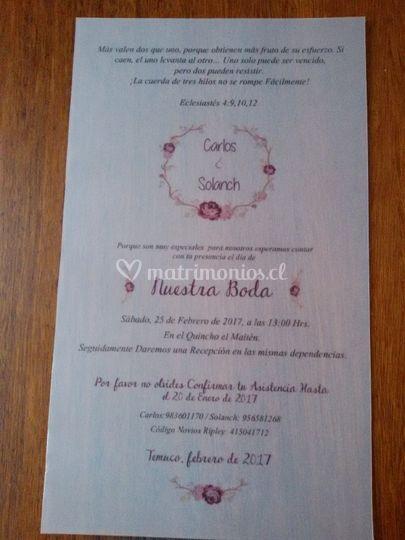 Botellín invitación