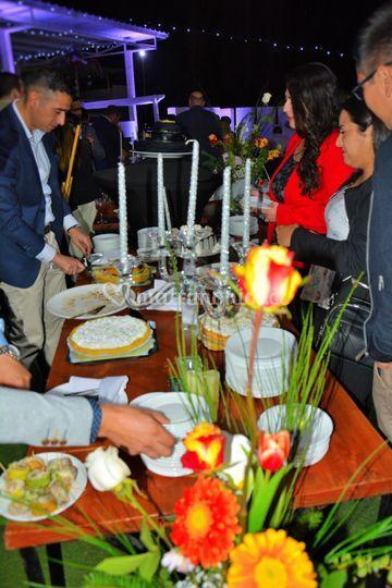 Decoracion mesa buffet