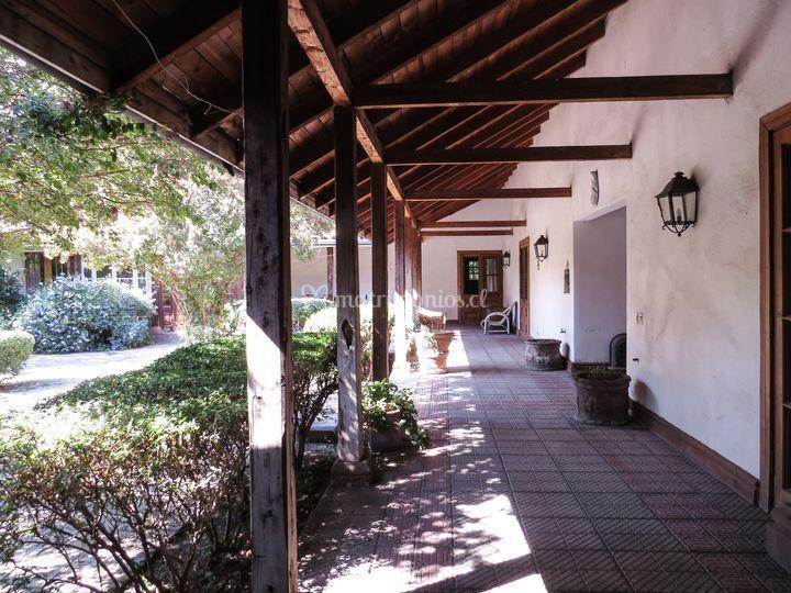 Corredor vista patio interno