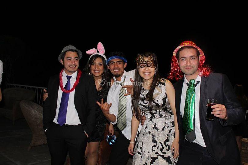 Disfrutando de la fiesta!!