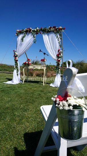 Matrimonio civil en la playa