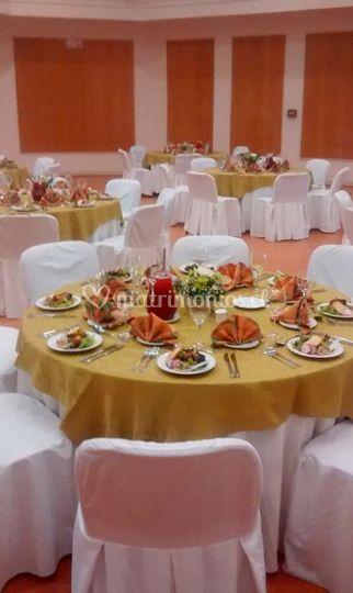 Decoración de las mesas
