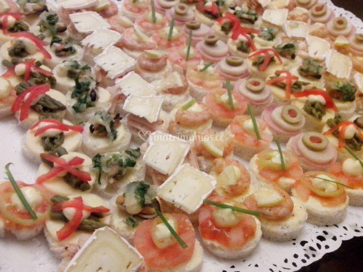 Canapés salados