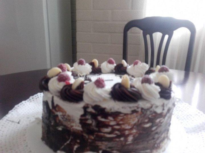 Torta de trufa negra