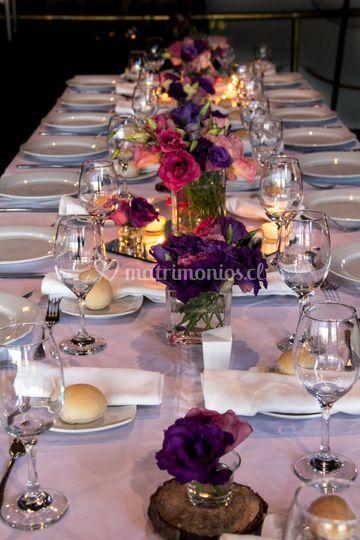 Velas en la mesa