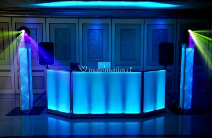 Cabina de DJ para matrimonios