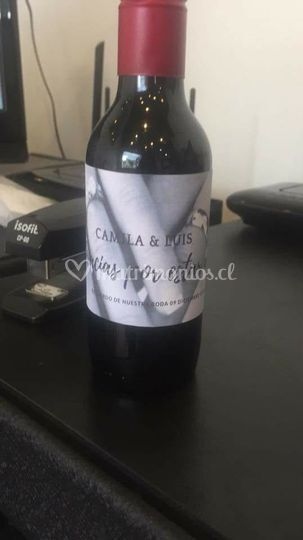 Recuerdos botella vino
