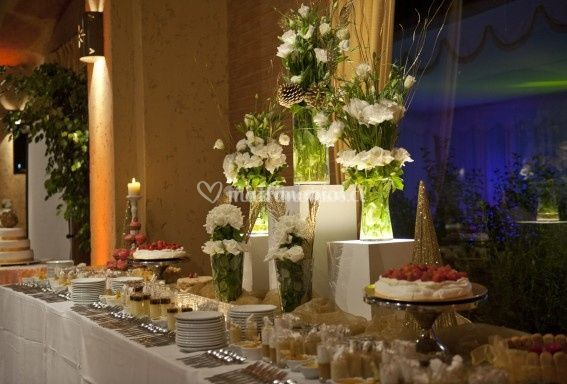 Pistacho y tul - Decoracion buffet ...