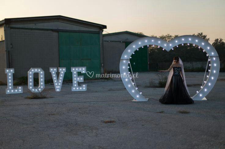Corazón Love LED