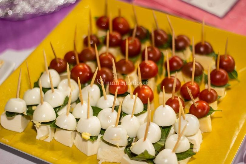 Pinchos de vegetales