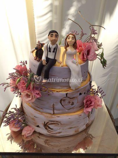 Cake diseño tronco
