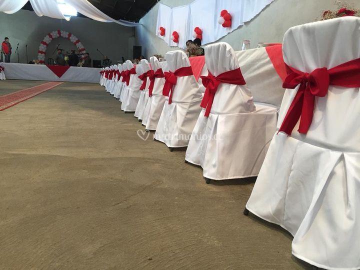 Matrimonio color rojo