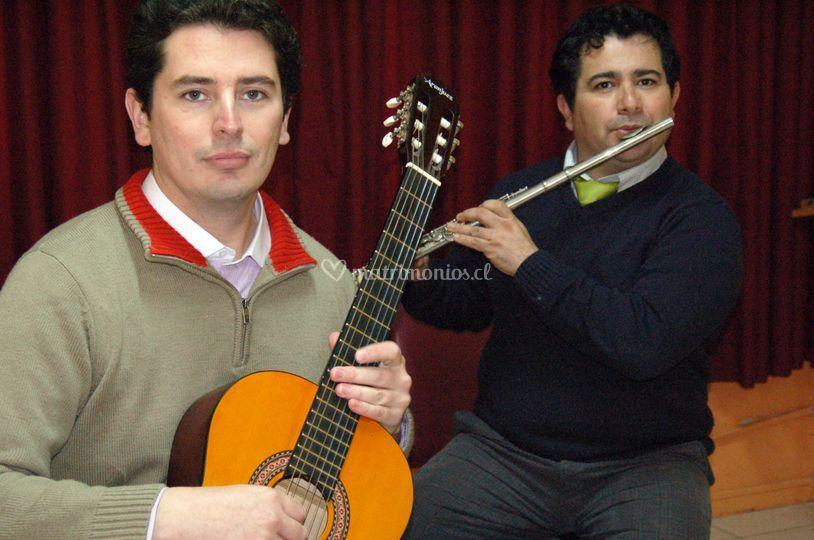Flauta y guitarra