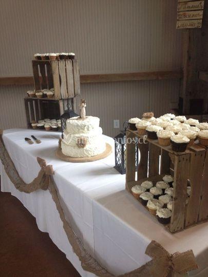 Rústica y cupcakes