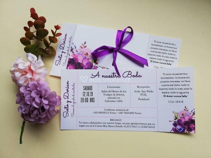 Ticket floral