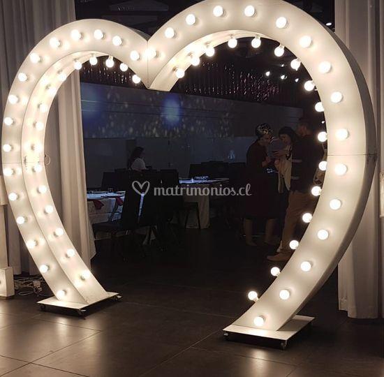 Corazón luminoso 2,60 metros