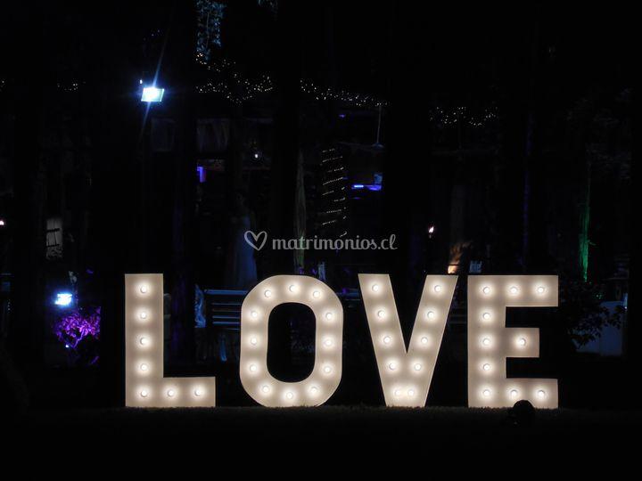 Love luminoso 1 metro