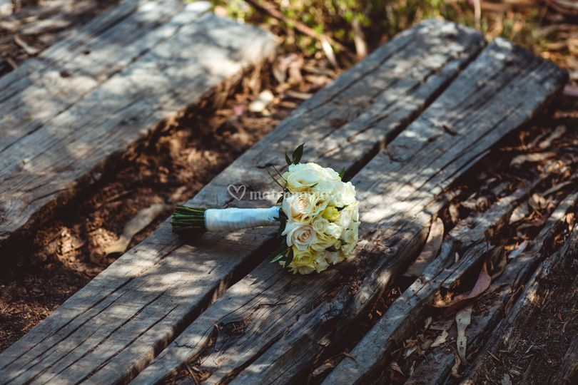 Ramo novia flores blancas