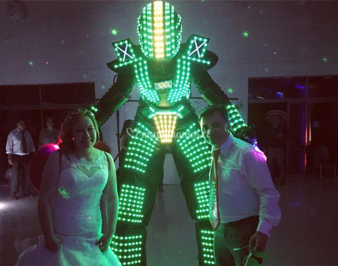 Robot led para matrimonios