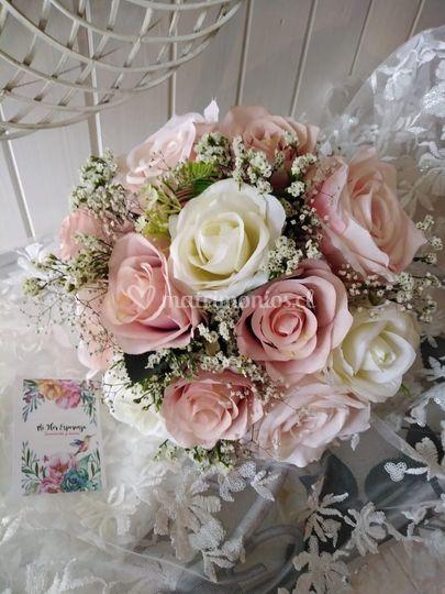 Ramo flores seda artificiales