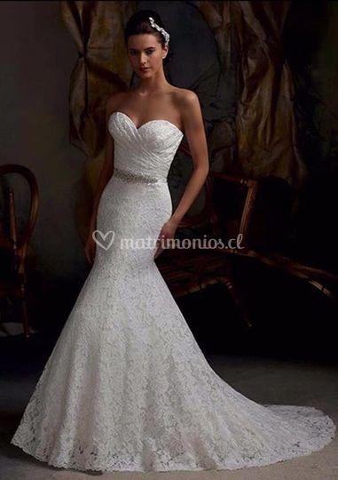 Vestido sirena blanco