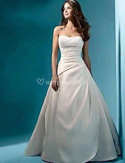 Vestido princesa ivory