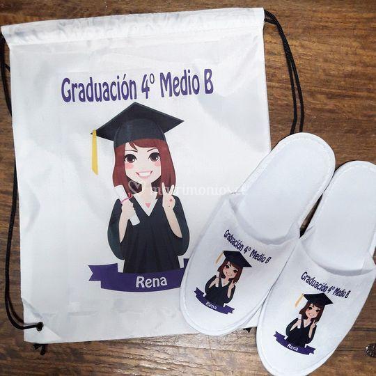 Pantuflas para graduación