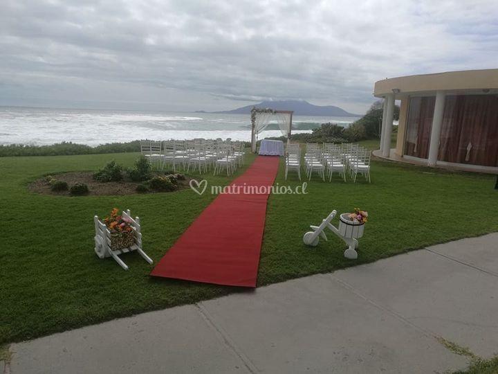 Matrimonio con vista al mar
