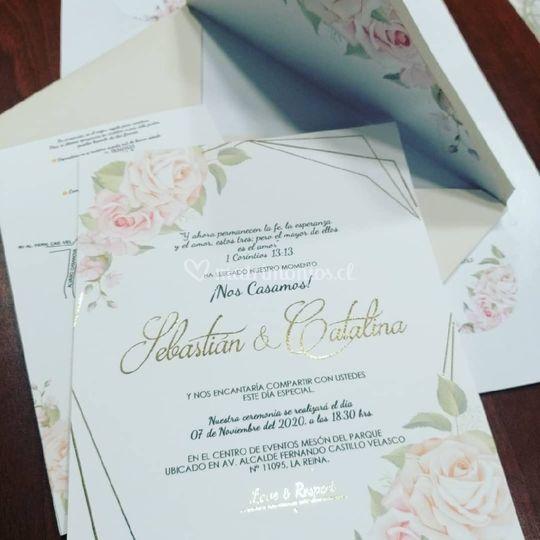 Invitaciones foil